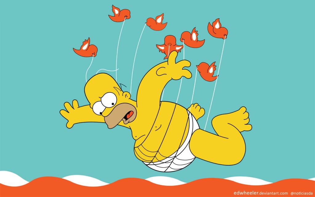 Homer Simpson as the fail whale