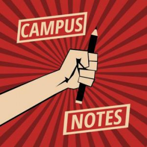 Campus Notes - hand holding pencil